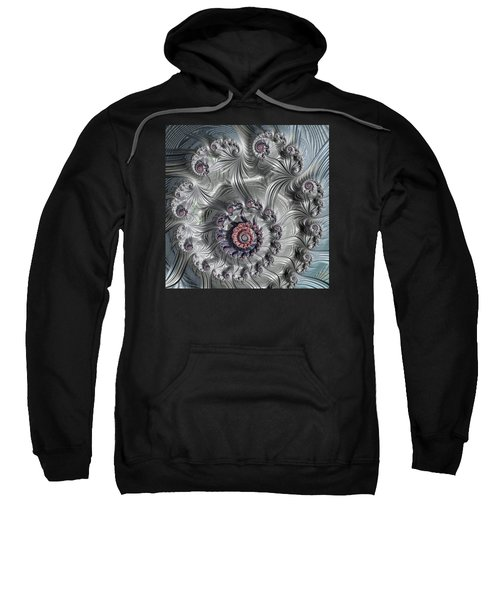 Square Format Abstract Fractal Spiral Art Sweatshirt