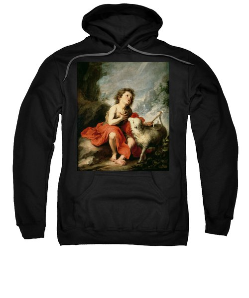 St. John The Baptist As A Child, C.1665 Oil On Canvas Sweatshirt