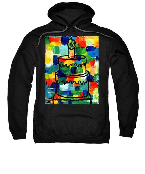 Stl250 Birthday Cake Abstract Sweatshirt
