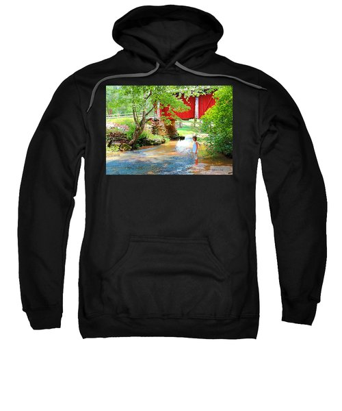 Standing By The River At Campbell's Bridge Sweatshirt