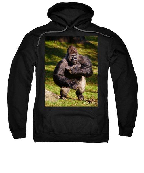 Standing Silverback Gorilla Sweatshirt