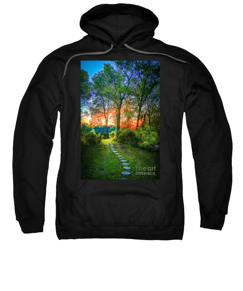 Stepping Stones To The Light Sweatshirt by Marvin Spates