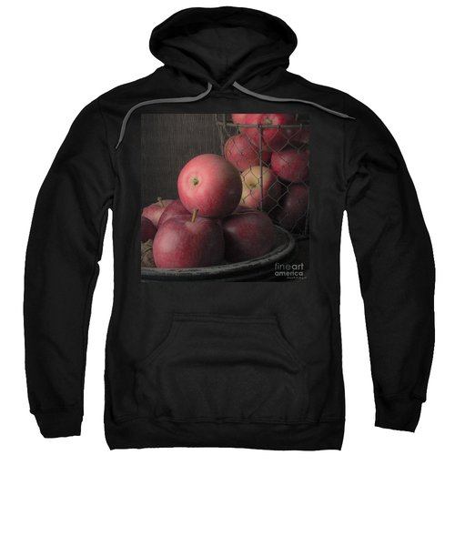 Sun Warmed Apples Still Life Square Sweatshirt