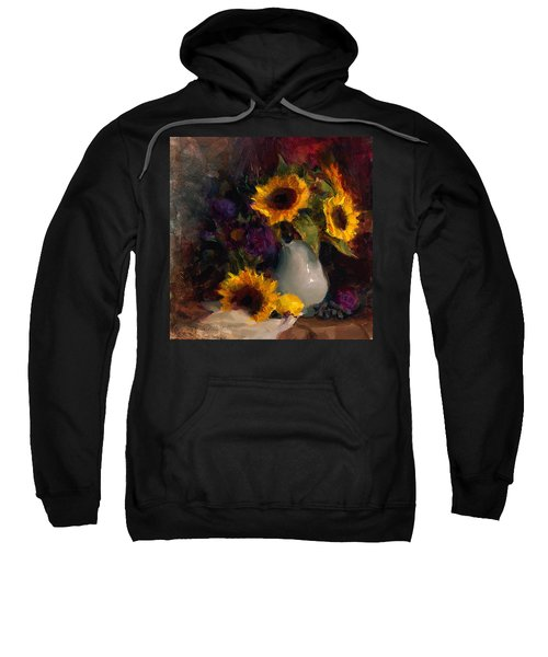 Sunflowers And Porcelain Still Life Sweatshirt