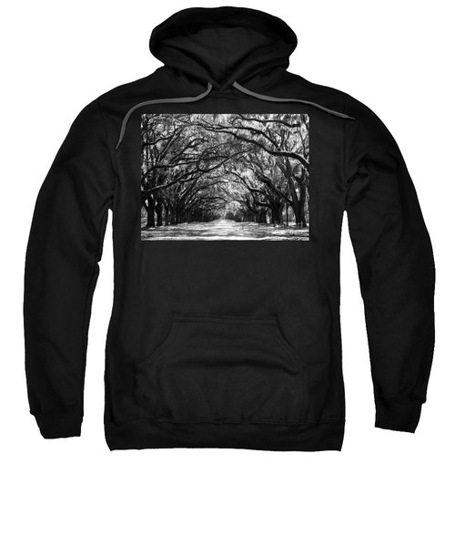 Sunny Southern Day - Black And White 24 X 18 Sweatshirt
