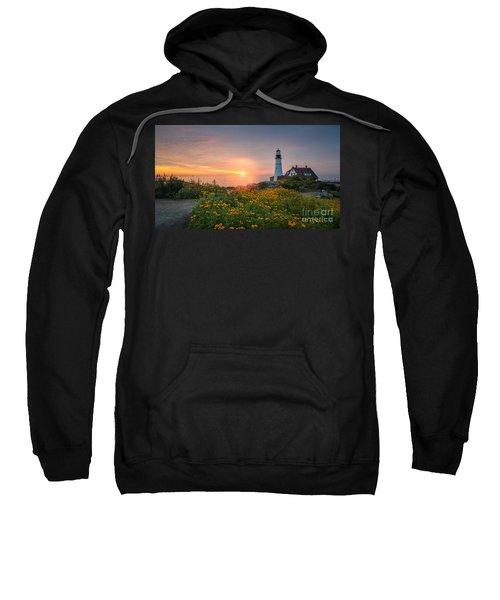 Sunrise Bliss At Portland Lighthouse Sweatshirt