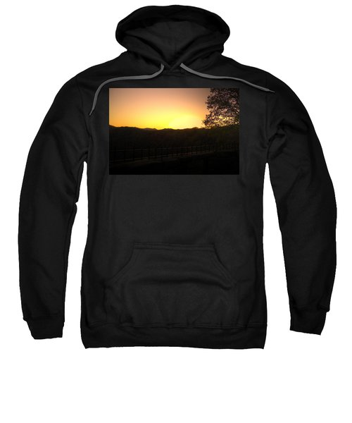 Sweatshirt featuring the photograph Sunset Behind Hills by Jonny D