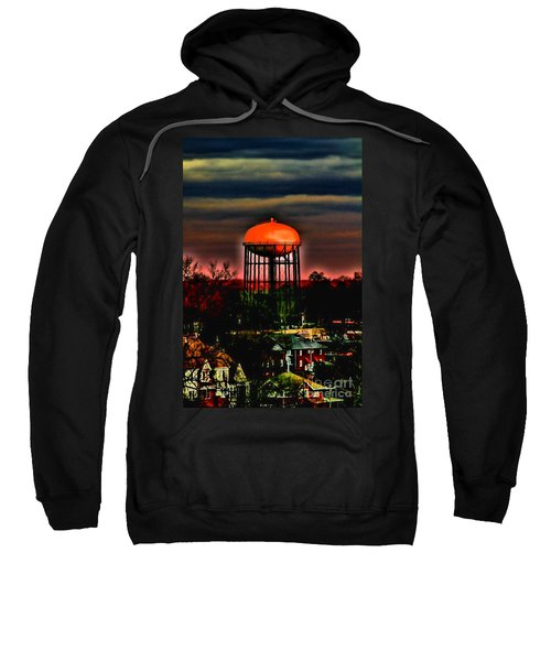 Sunset On A Charlotte Water Tower By Diana Sainz Sweatshirt