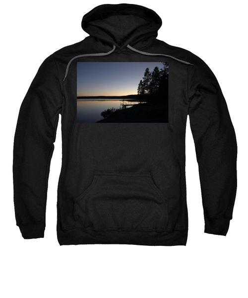 Sunset Over Yellowstone Lake Sweatshirt