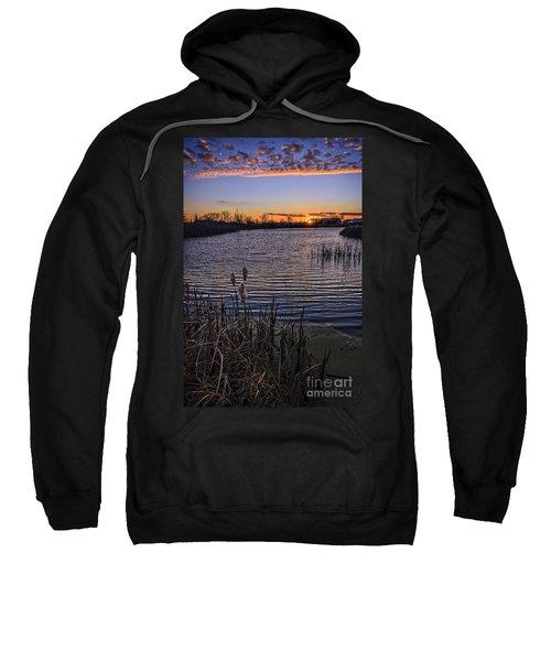 Sunset, Reeds, River.... Sweatshirt
