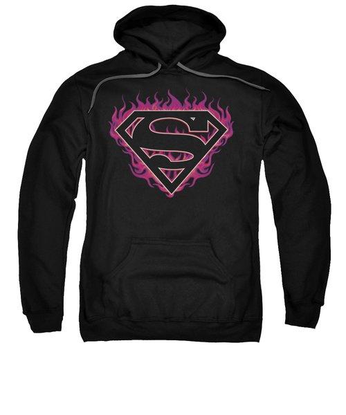 Superman - Fuchsia Flames Sweatshirt