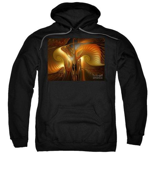 Surrealistic Landscape-fractal Design Sweatshirt