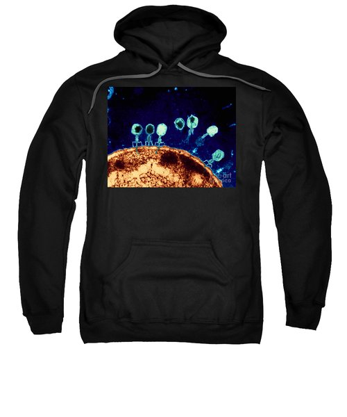 T-bacteriophages And E-coli Sweatshirt