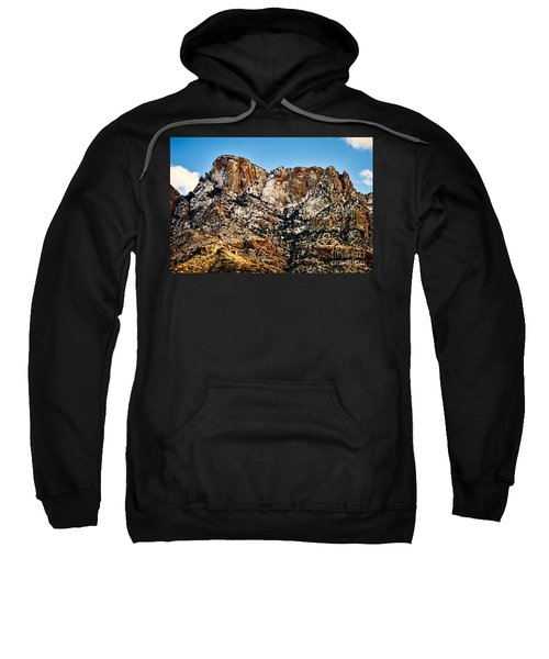 Sweatshirt featuring the photograph Table Mountain In Winter 42 by Mark Myhaver