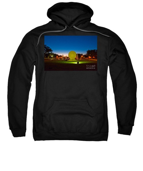 Sweatshirt featuring the photograph Texas Tech Seal At Night by Mae Wertz
