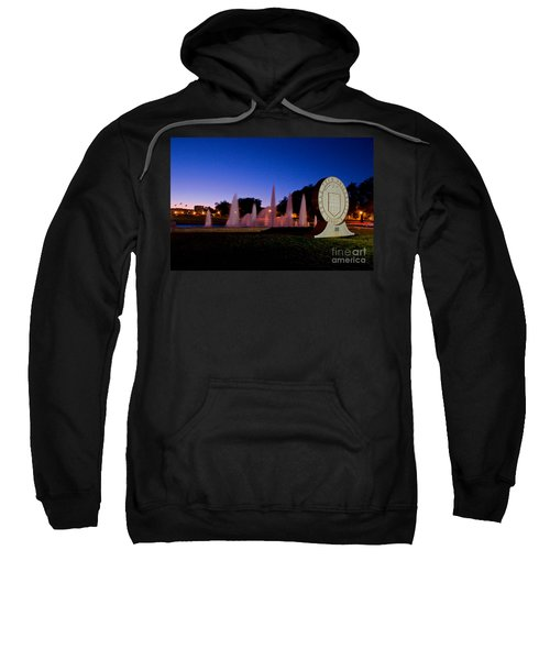 Sweatshirt featuring the photograph Texas Tech University Seal And Blue Sky by Mae Wertz