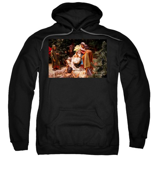 The Christmas Creche At Holy Name Cathedral - Chicago Sweatshirt