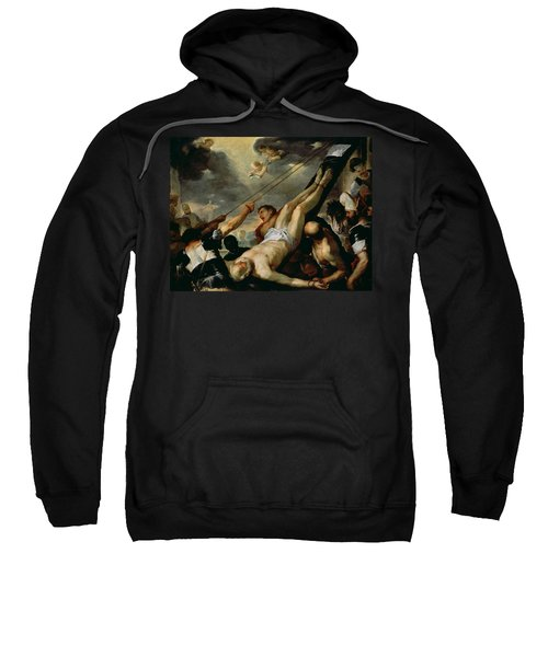 The Crucifixion Of Saint Peter, C.1660 Oil On Canvas Sweatshirt