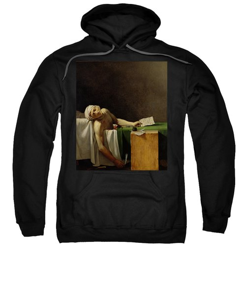 The Death Of Marat, After The Original By Jacques-louis David 1748-1825 Oil On Canvas Sweatshirt