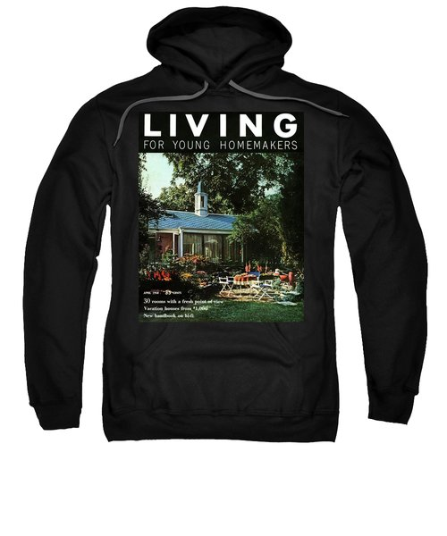 The Exterior Of A House And Patio Furniture Sweatshirt
