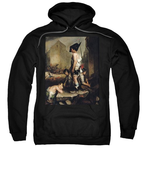 The Little Patriots, 1830 Oil On Canvas Sweatshirt