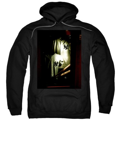 The Locker  Mickey Mantle's And Joe Dimaggio's Locker Sweatshirt by Iconic Images Art Gallery David Pucciarelli