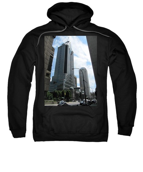 Sweatshirt featuring the photograph The Montreal Skyscraper by Shawn Dall