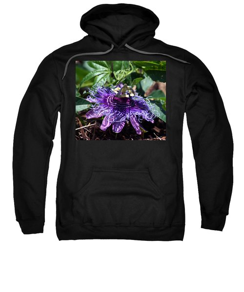 Sweatshirt featuring the photograph The Passion Flower by Kim Pate
