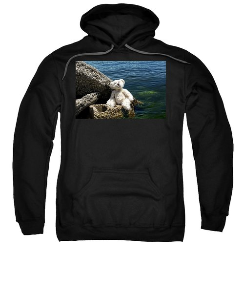 The Philosopher - Teddy Bear Art By William Patrick And Sharon Cummings Sweatshirt