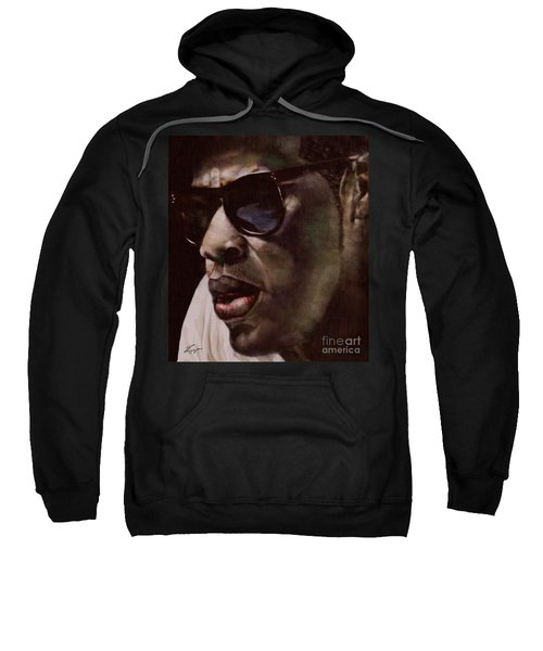 The Pied Piper Of Intrigue - Jay Z Sweatshirt by Reggie Duffie
