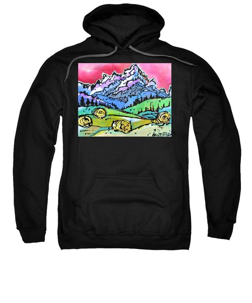 The Tetons From Walton Ranch Sweatshirt