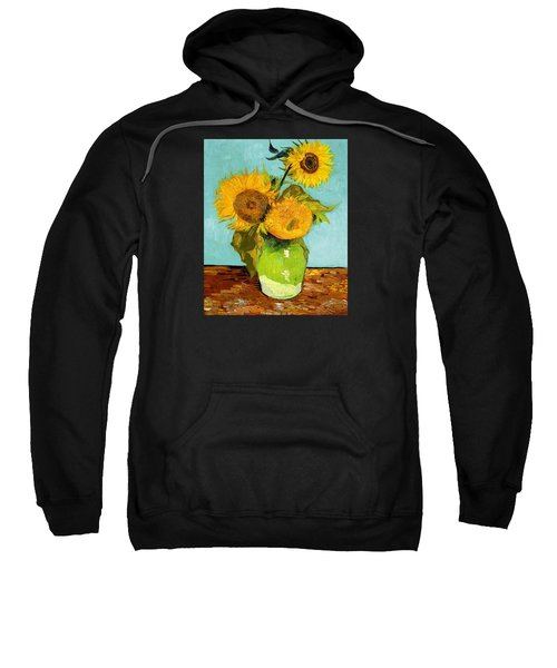 Three Sunflowers In A Vase Sweatshirt