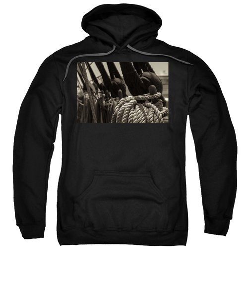 Tied Up Black And White Sepia Sweatshirt