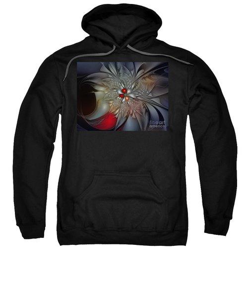 Timeless Elegance-floral Fractal Design Sweatshirt