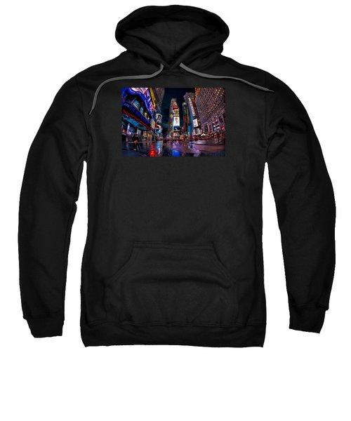 Times Square New York City The City That Never Sleeps Sweatshirt