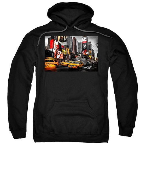 Times Square Taxis Sweatshirt by Az Jackson