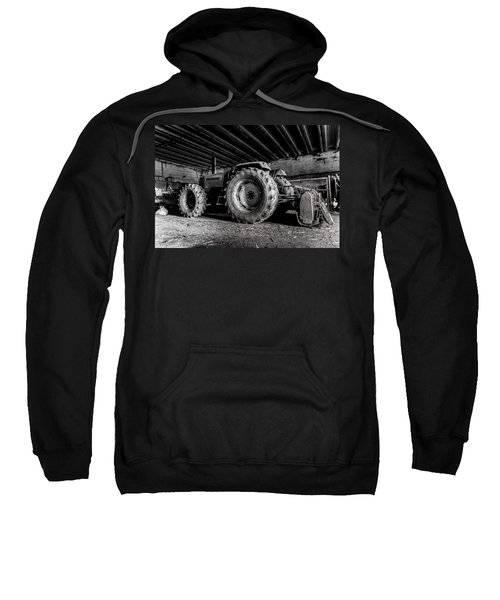 Sweatshirt featuring the photograph Tractor In The Barn by Joseph Amaral