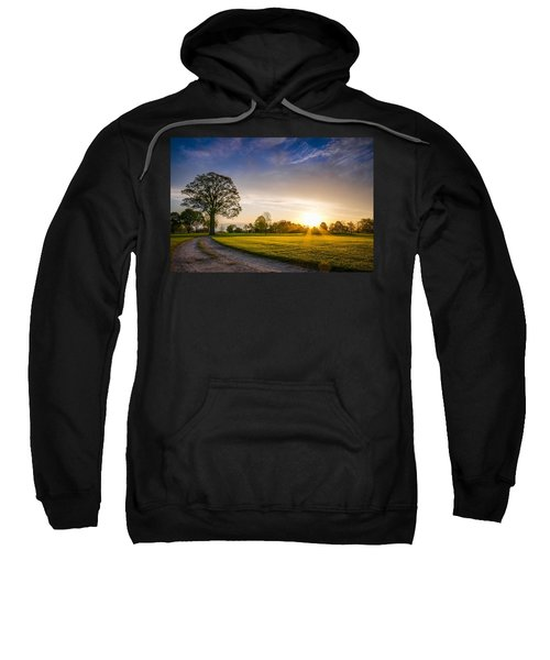 Trees At Dawn On Golf Course Sweatshirt