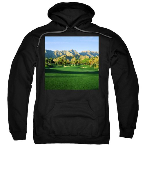 Trees In A Golf Course With A Mountain Sweatshirt