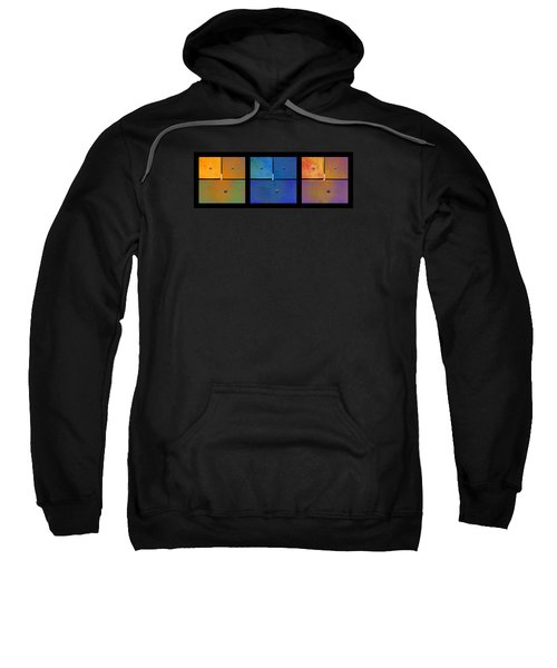 Triptych Orange Blue Gold - Colorful Rust Sweatshirt