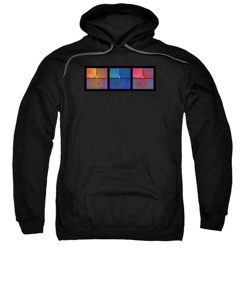 Triptych Gold Blue Magenta - Colorful Rust Sweatshirt