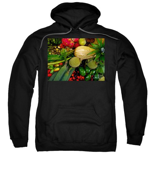 Tropical Fruits Sweatshirt by Carey Chen