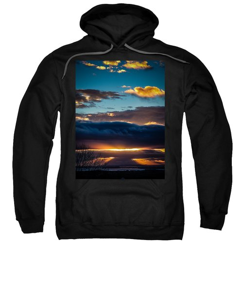 Sweatshirt featuring the photograph Tunnels Of Light Over Ireland's Shannon Airport by James Truett