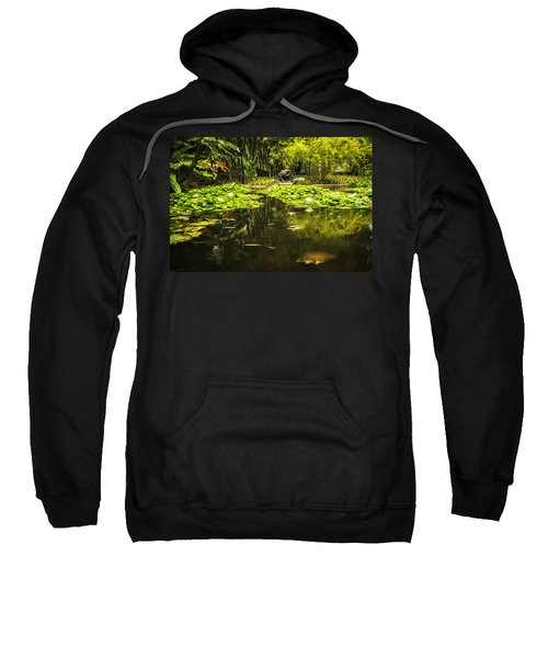 Turtle In A Lily Pond Sweatshirt