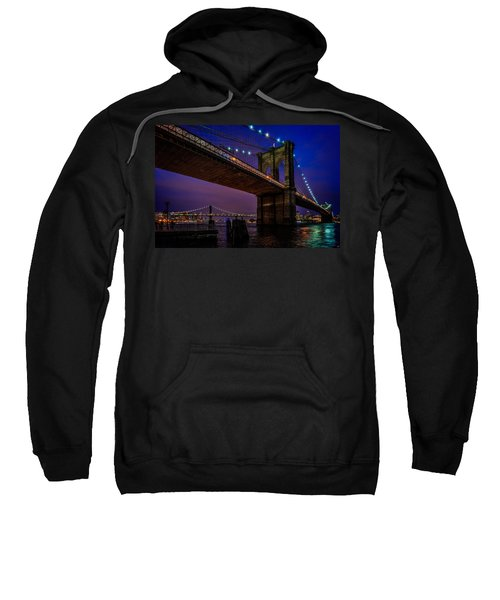 Twilight At The Brooklyn Bridge Sweatshirt