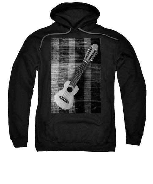 Ukulele Still Life In Black And White Sweatshirt