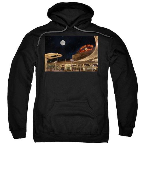 Union Station Denver Under A Full Moon Sweatshirt