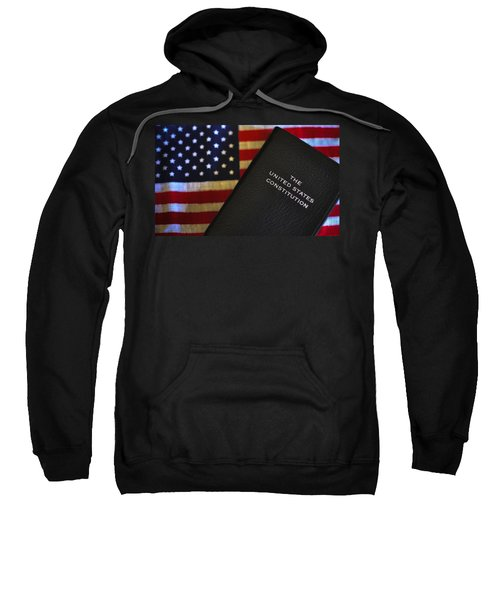 United States Constitution And Flag Sweatshirt