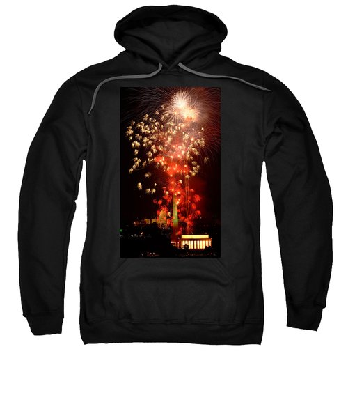 Usa, Washington Dc, Fireworks Sweatshirt