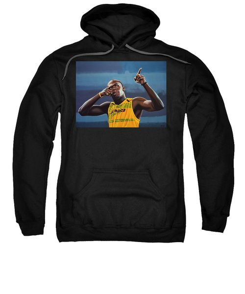 Usain Bolt Painting Sweatshirt